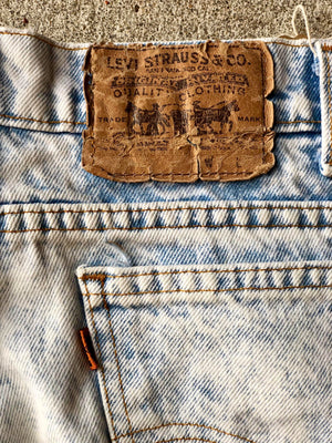 Orange Tab Stone Wash Levis