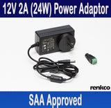 12V 2A (24 Watts) Power Supply Adapter For LED Lights