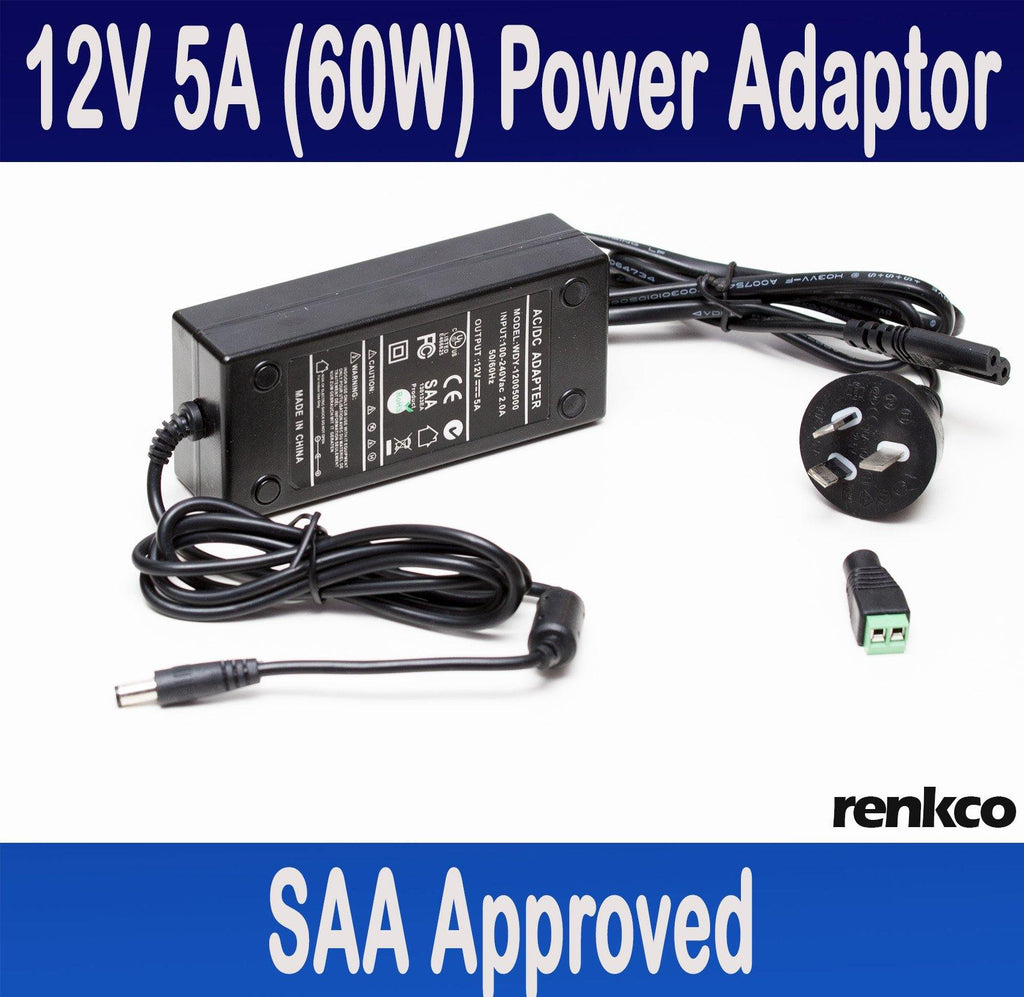 12V 5A (60 Watts) Power Supply Adapter For LED Lights