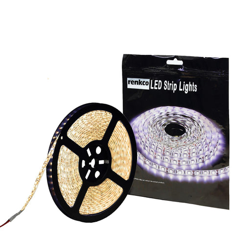 600 LED's Waterproof LED Strip Lights Warm White 12V 5M 3528 SMD