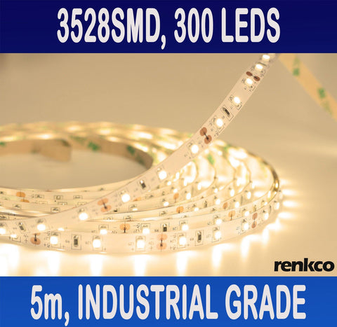 Industrial Grade LED Strip Lights 3528 SMD Warm White IP22 Non-Waterproof