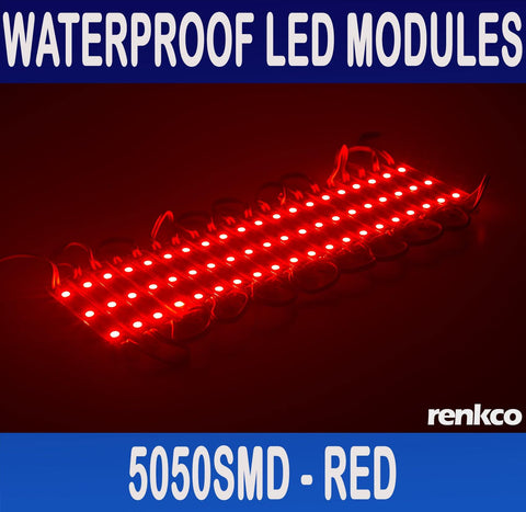 20 Sets Red Waterproof LED Module (3x 5050 SMD LED/module) Lights