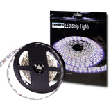 RenkCo 5M 5050 SMD Bright Cool White 300 LED Non Waterproof 12V Flexible Strip Light