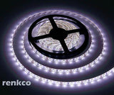 Renkco Electrician Grade 2835 SMD Cool White LED Strip Lights IP65 Waterproof 12V DC