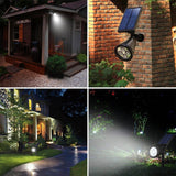 2x LED Solar Lights, Adjustable, Auto On/Off for Wall Patio Deck Garden Driveway