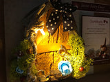 Secret Fairy Door with magical light