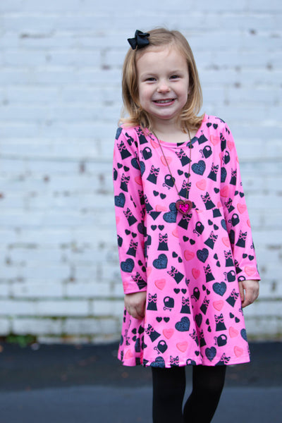Cool Cats & Kittens Dress - Miracles Valentines Collection