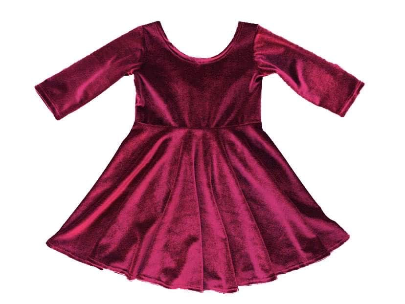 Berry Velvet Dress