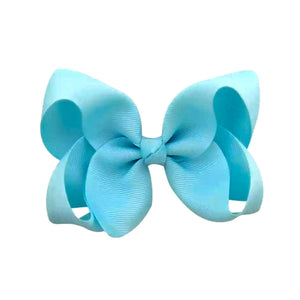 Light Blue Simply Solid Bow