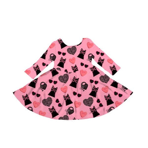 Cool Cats & Kittens Dress - MCB Valentines 2021- PREORDER