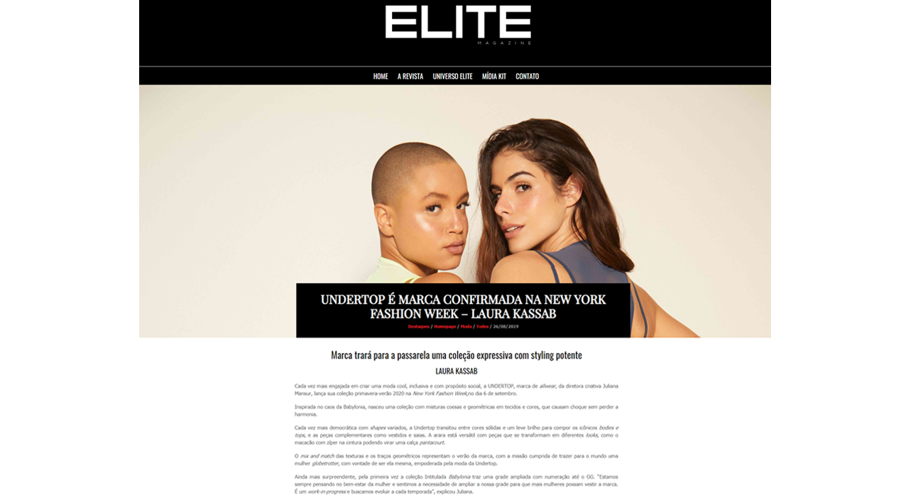 Undertop na Elite Magazine