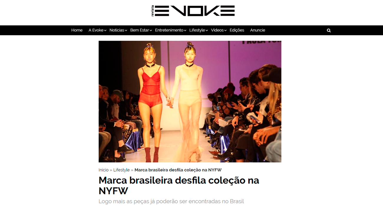 Undertop no site da revista Evoke