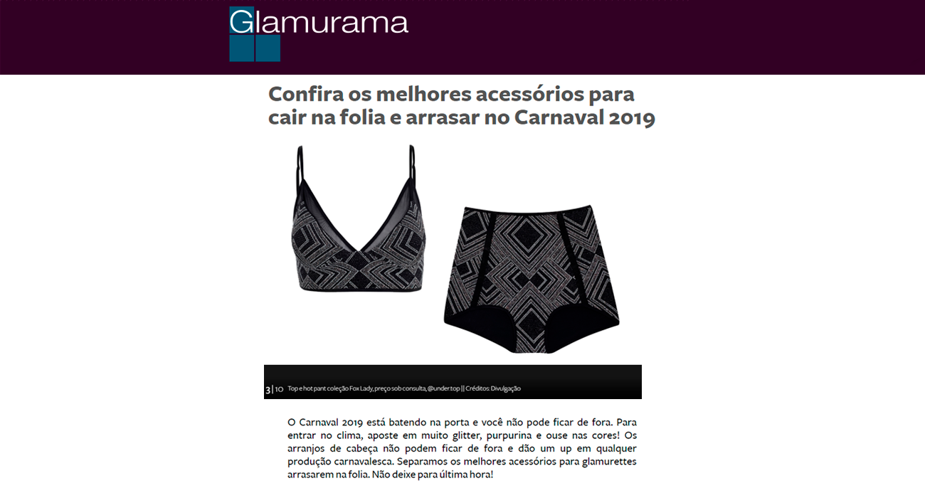 Undertop no site Glamurama