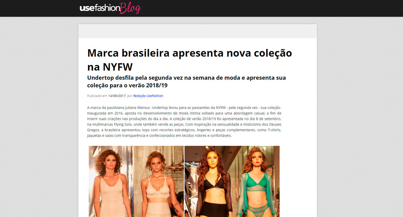 Undertop na UseFashion Blog