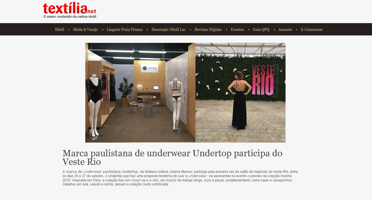 Undertop participa do Veste Rio