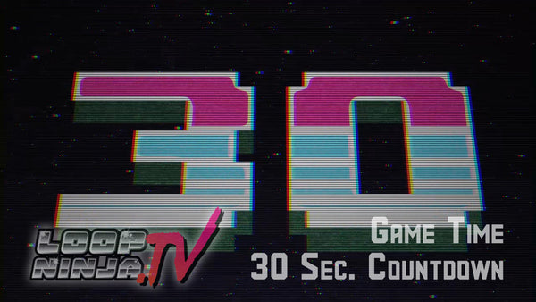 8 Bit Game Time 30 Second Countdown