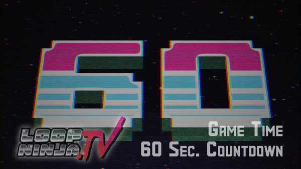 8 Bit Game Time 60 Second Countdown