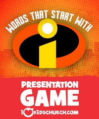Words That Start With I! Presentation Game