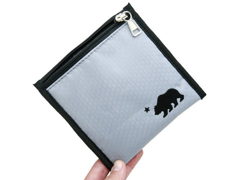 Image of Cali Bags Accessories 6x6 in gray Cali Bags Smell Proof Pouch w/Locking Zipper