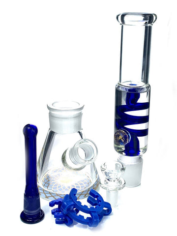 "Image of Fat Buddha Glass Bong 12"" Freezable Glass Bong"