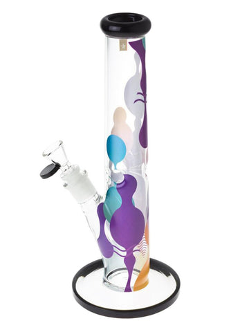 "Image of Famous Brandz Bong 12"" Panorama Straight Tube Bong"