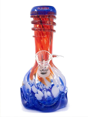 "Fat Buddha Glass Bong 7"" Vase Glass Bong"