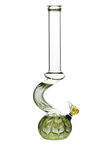 "Image of Biohazard Bong Green 13"" Bend Bong"