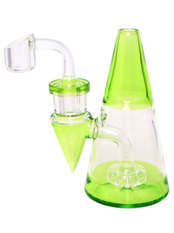 "Image of Fat Buddha Glass Bong Green 5"" Cone Rig"