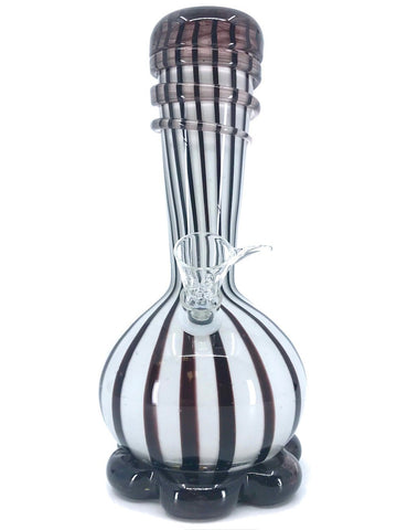 "Fat Buddha Glass Bong White 10"" Heavy Vase Bong"