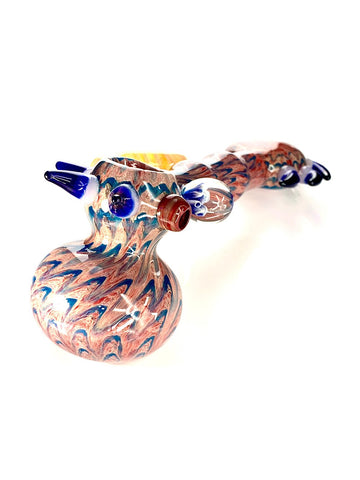 Image of Fat Buddha Glass Bubbler Horny Rose Hammer Bubbler