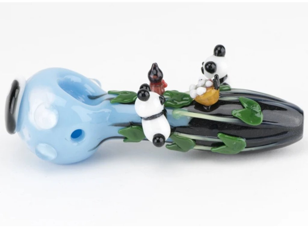 Empire Glassworks Climbing Pandas Pipe