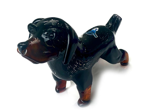 Chameleon Glass Pipe Rottweiler Glass Pipe