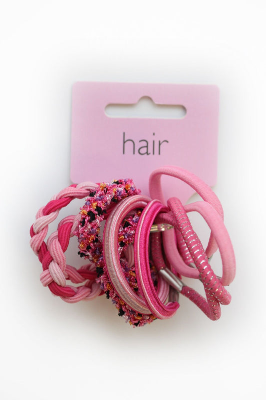 County Sale Pink  Bunch of Hair Bands