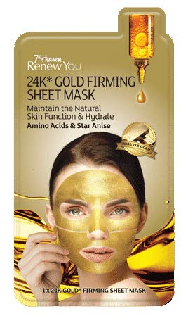 Montagne Jeunesse 7th Heaven Renew You 24K* Gold Firming Sheet Mask