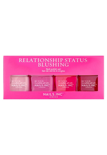 Nails Inc Relationship Status: Blushing 4-Piece Nail Polish Set