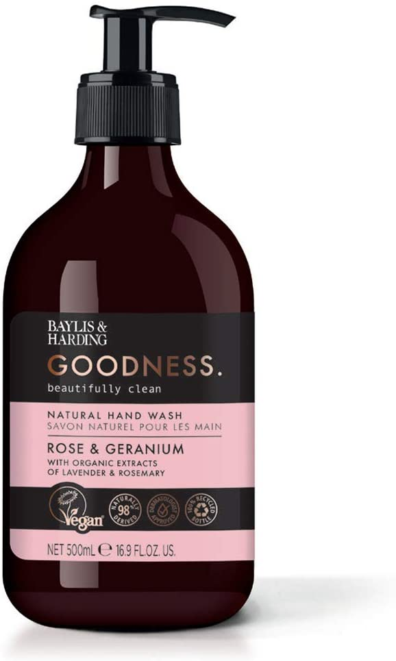 Baylis & Harding Goodness Rose & Geranium, 500ml Hand Wash