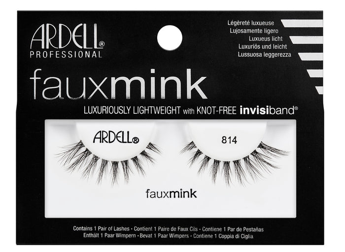 Ardell Faux Mink Black Lashes 814