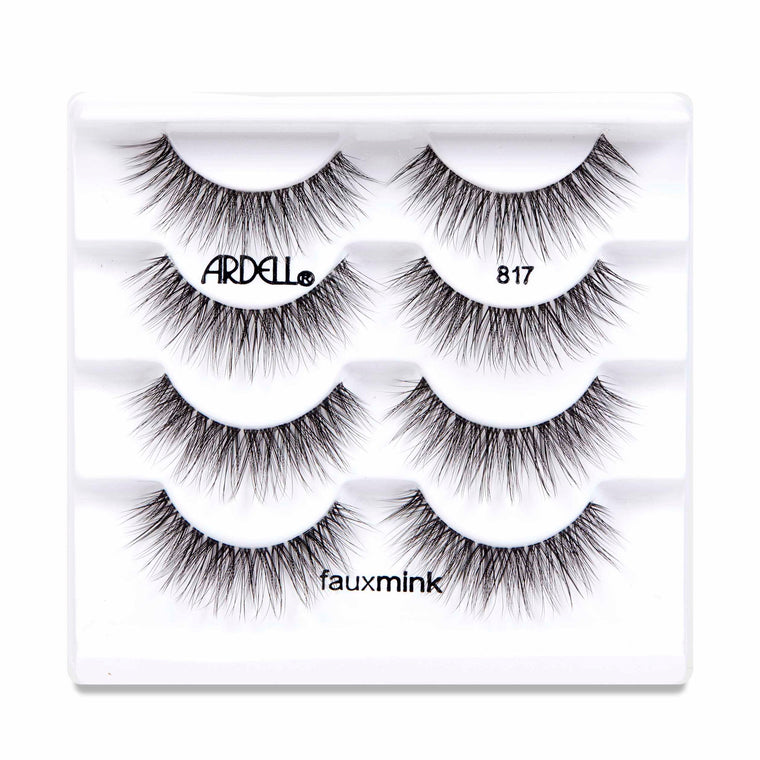 Ardell Faux Mink 817 Black Lashes Four Pack