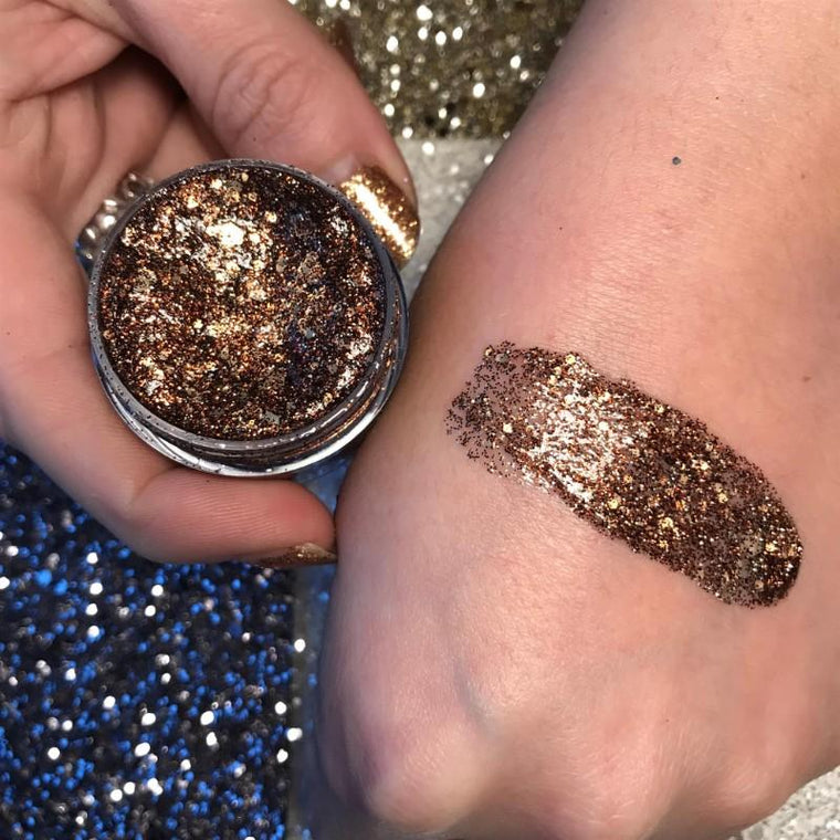 Prima Makeup Holographic Glitter Paste - Chameleon Collection - A Lotta Mocha