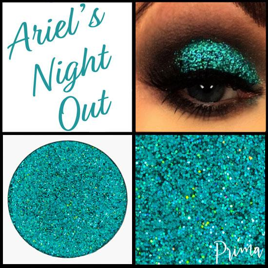 Prima Makeup Pressed Holographic Green Blue Glitter Multi-Tonal Eyeshadow  - Ariel's Night Out