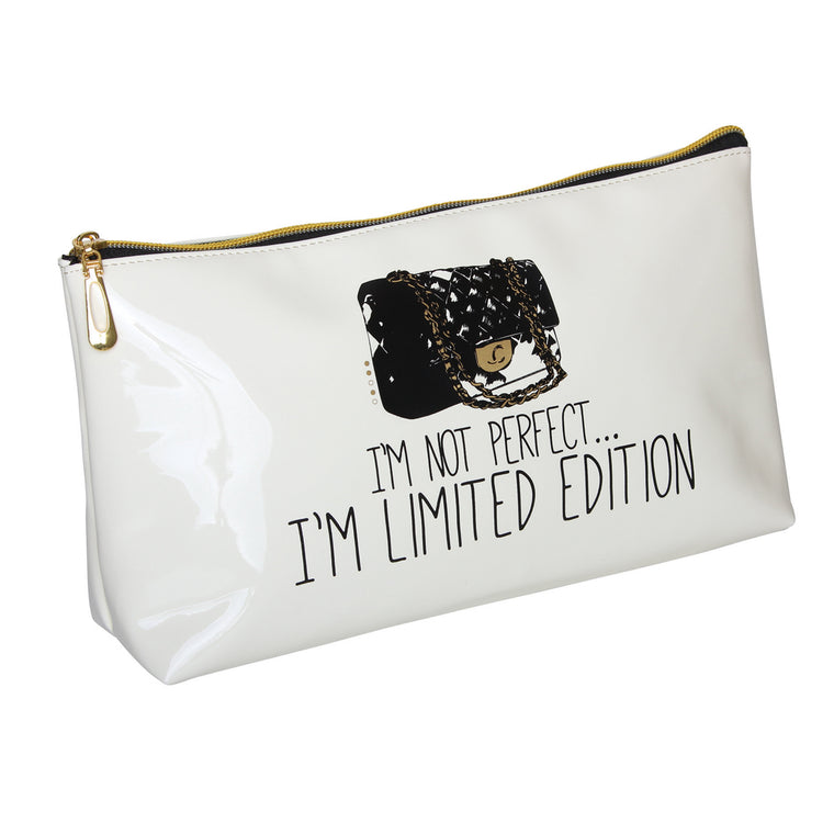 Fancy Metal Goods 'I'm Not Perfect....I'm Limited Edition' Cosmetic/Toiletry Bag