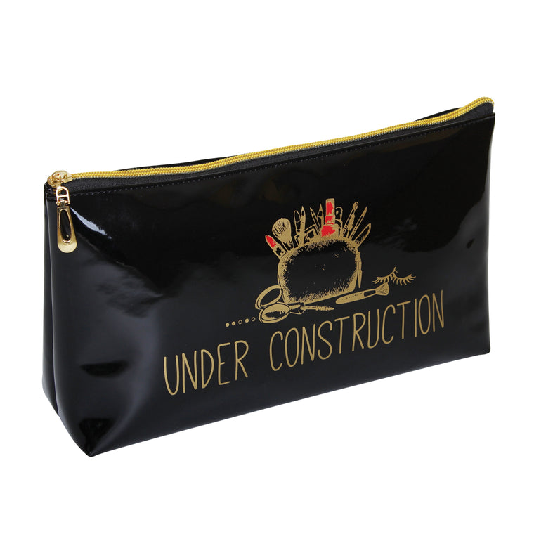Fancy Metal Goods 'Under Construction' Cosmetic/Toiletry Bag