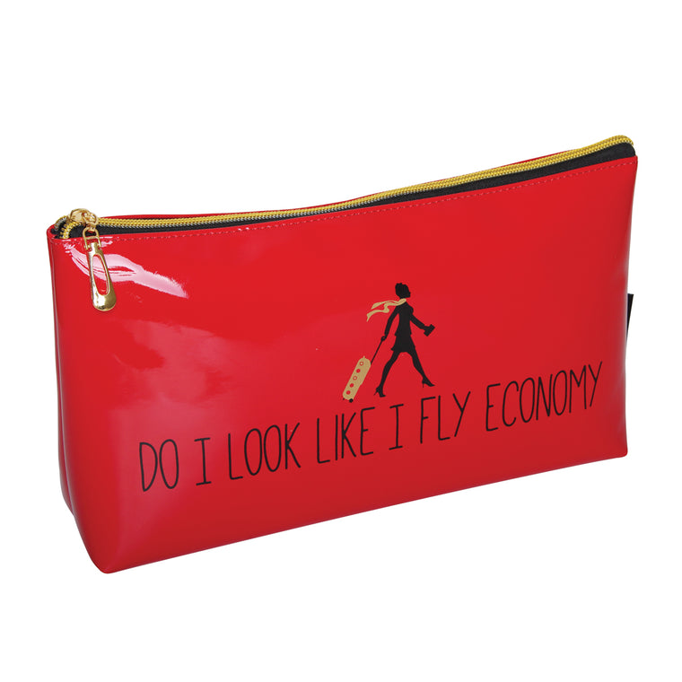 Fancy Metal Goods 'Do I Look Like I Fly Economy' Cosmetic/Toiletry Bag