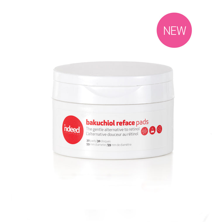 indeed Labs bakuchiol reface™ pads The Gentle Alternative to Retinol, 30 Pads