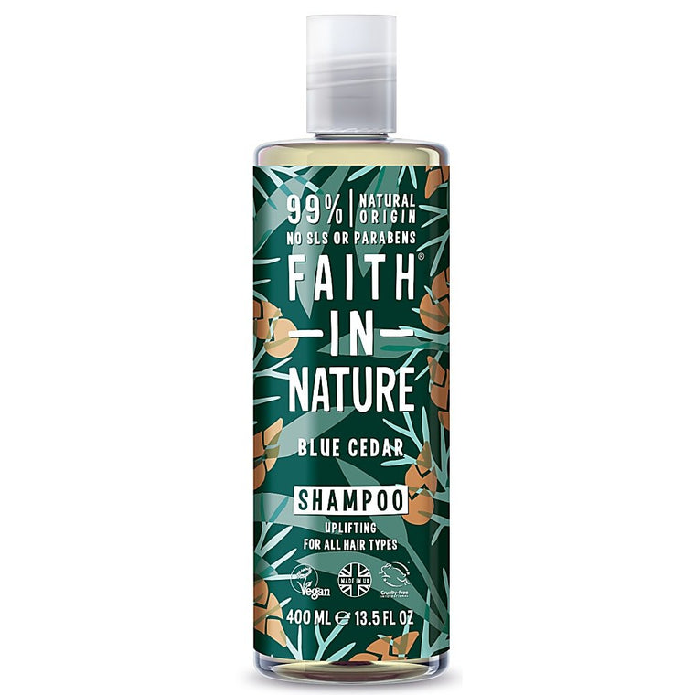 Faith in Nature Blue Cedar Shampoo For Men 400ml