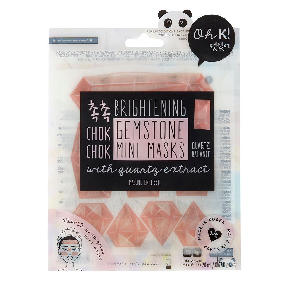 Oh K! Chok Chok Brightening Quartz Gemstone Mini Masks With Quartz Extract