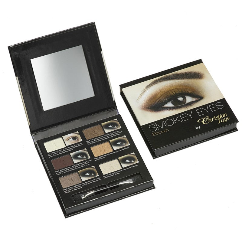 Christian Faye Smokey Eye 6 Colour Palette in Brown