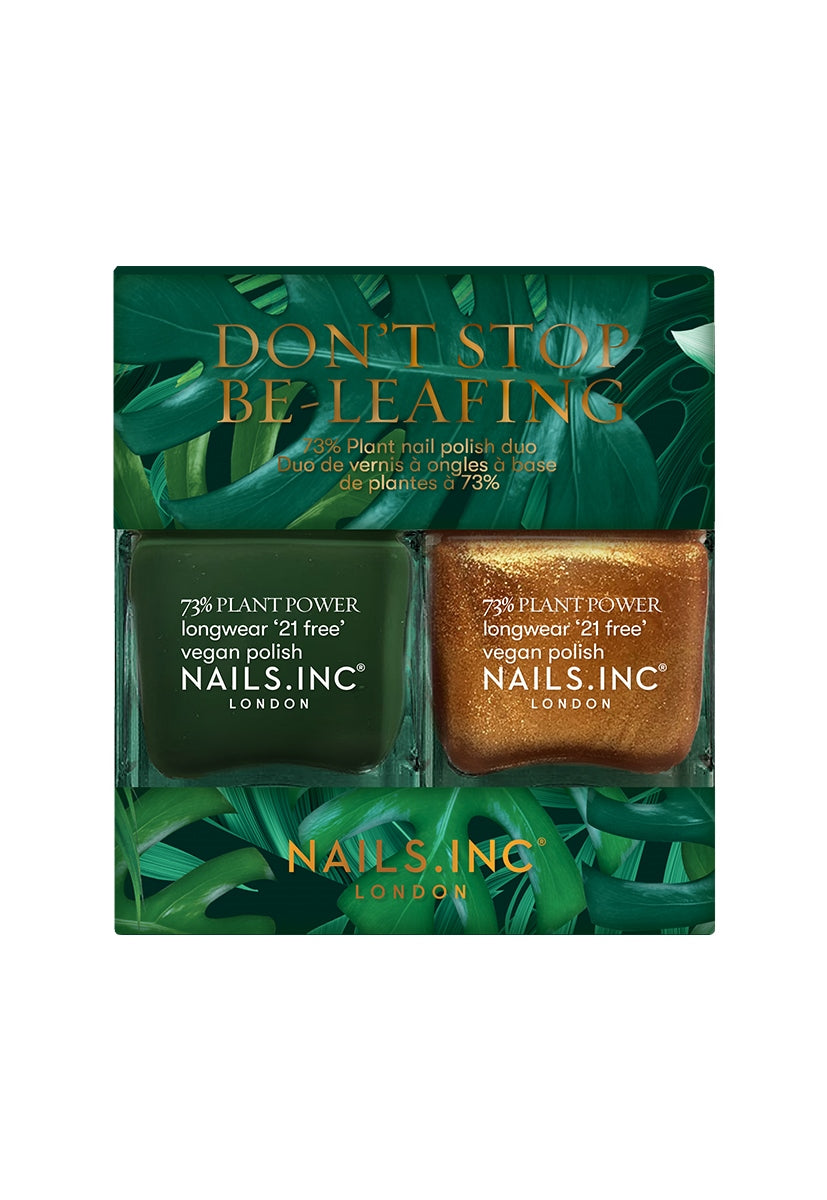 Don't Stop Be-Leafing Plant Based Vegan Nail Polish Duo
