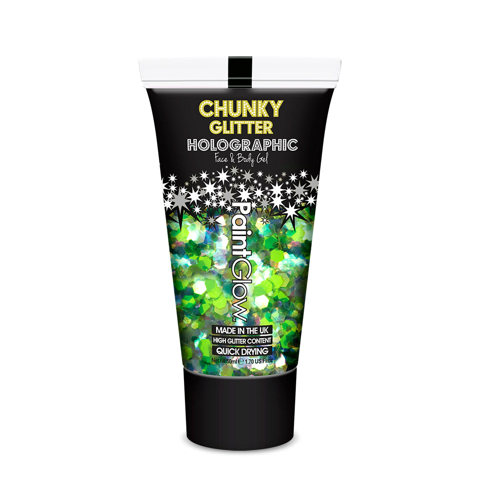 PaintGlow Chunky UV Holographic Glitter Gels, 13ml
