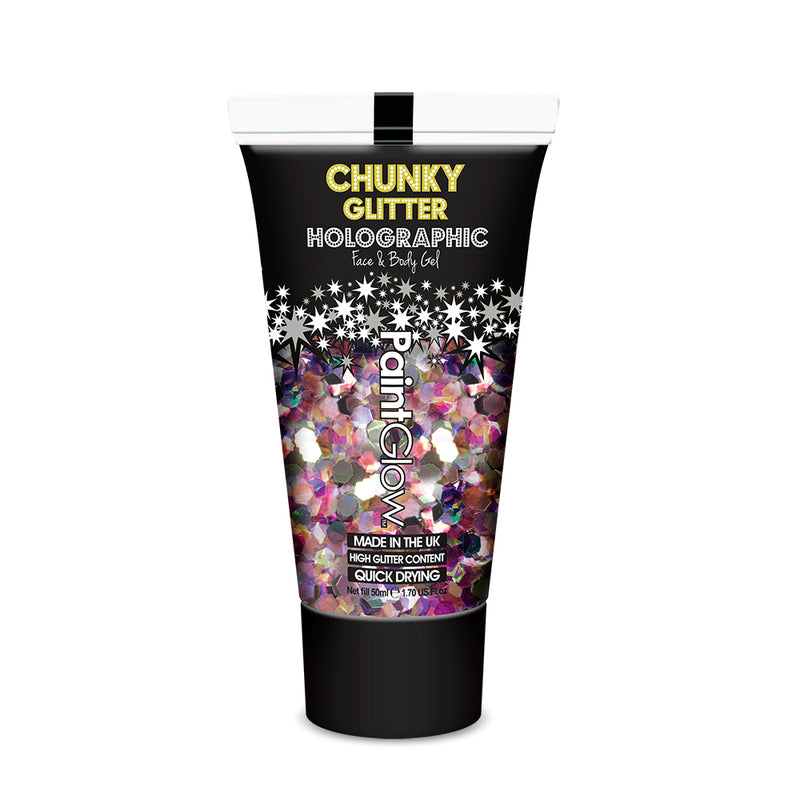 PaintGlow Mermaid Mist Chunky Glitter Cosmetic Face and Body Gel